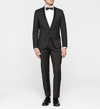 CALVIN KLEIN Fitted Virgin Wool Tuxedo - Taylor K10K100241013