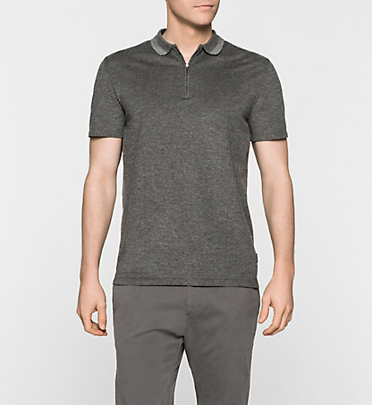 CALVIN KLEIN Cotton Pique Fitted Polo - Janso K10K100242038