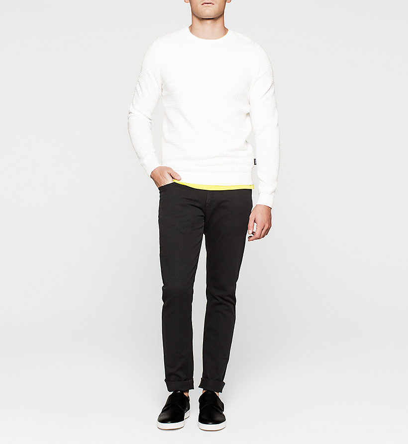 CALVINKLEIN Fitted T-shirt - BRIGHT SULPHUR - CALVIN KLEIN T-SHIRTS - detail image 1