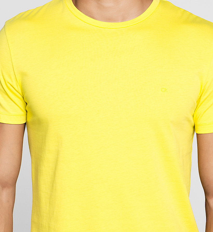 CALVINKLEIN Fitted T-shirt - BRIGHT SULPHUR - CALVIN KLEIN T-SHIRTS - detail image 2