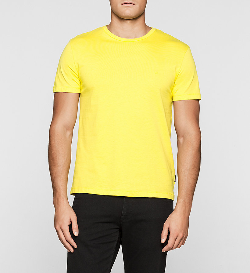 CALVINKLEIN Fitted T-shirt - BRIGHT SULPHUR - CALVIN KLEIN T-SHIRTS - main image
