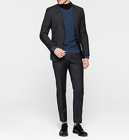 CALVIN KLEIN Fitted Virgin Wool Suit - Tate K10K100254478