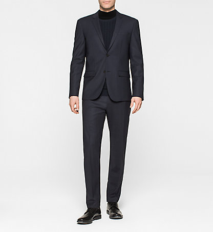 CALVIN KLEIN Fitted Wool Blend Suit - Talo K10K100263478