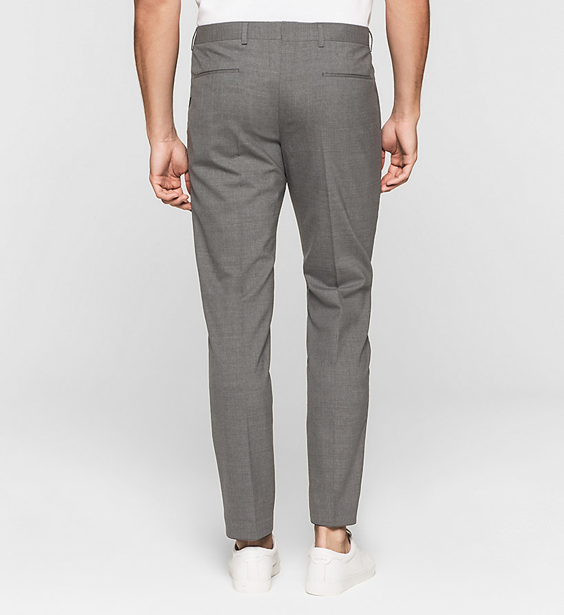 CALVINKLEIN Slim Suit Trousers - LIMOGES - CALVIN KLEIN SUITS - detail image 1