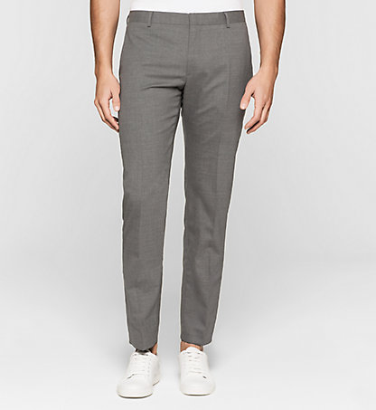 CALVIN KLEIN Slim Wool Stretch Trousers K10K100269033