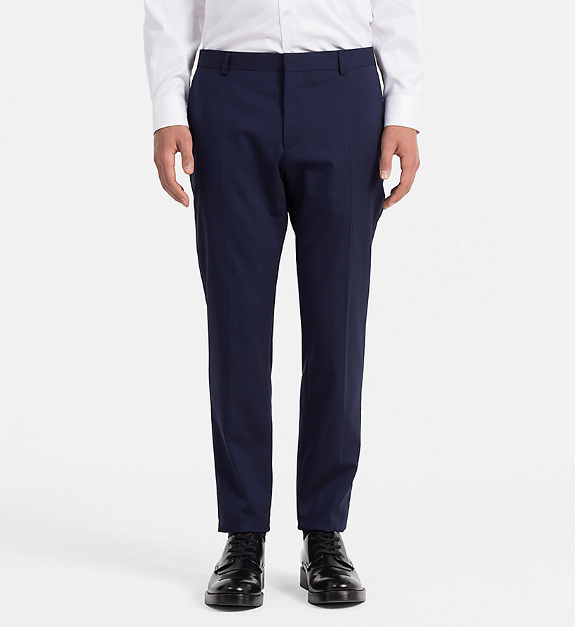 CALVINKLEIN Slim Suit Trousers - MEDIUM GREY - CALVIN KLEIN SUITS - main image