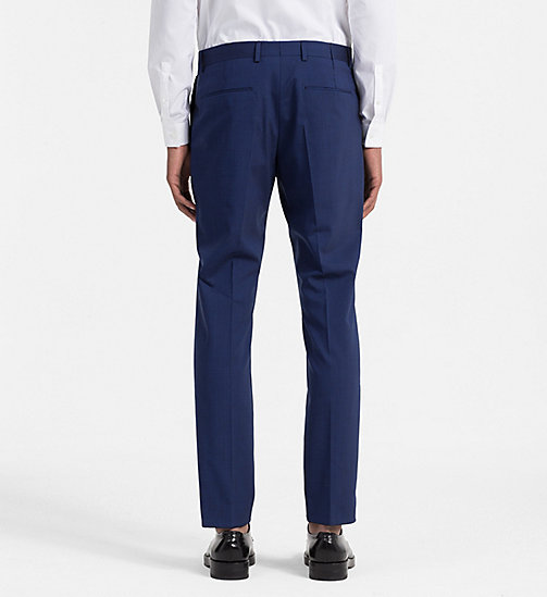 Slim Wool Stretch Trousers - LIMOGES - CALVIN KLEIN SUITS - detail image 1