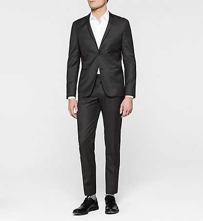 CALVIN KLEIN Fitted Virgin Wool Suit - Tavis K10K100298013