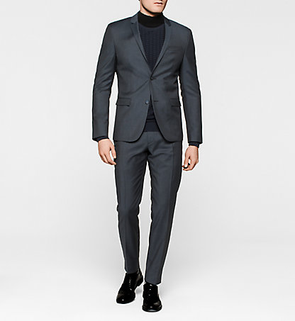 CALVIN KLEIN Slim Virgin Wool Suit - Till K10K100352489