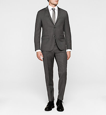 CALVIN KLEIN Wool Fitted Suit - Tate K10K100355657