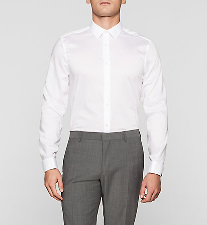 CALVIN KLEIN Fitted Dress Shirt - Walker K10K100379105