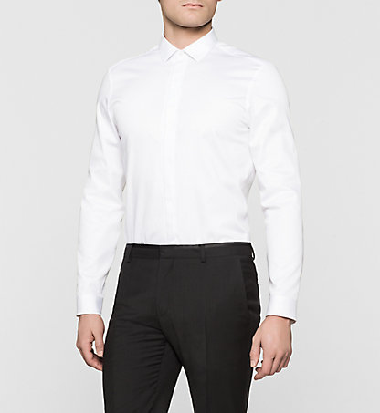 CALVIN KLEIN Fitted Dress Shirt - Wallace K10K100385105