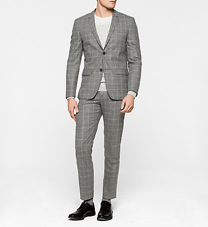 CALVIN KLEIN Fitted Virgin Wool Suit - Tate K10K100403038