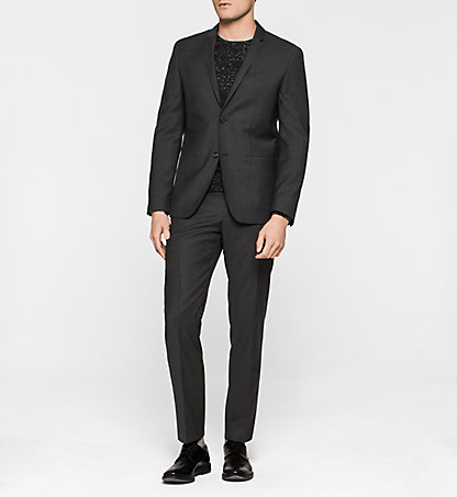 CALVIN KLEIN Fitted Virgin Wool Suit - Tavis K10K100405657