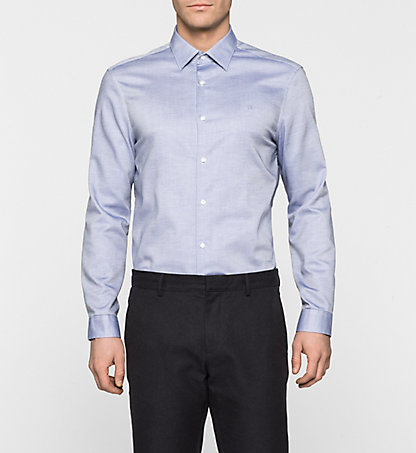 CALVIN KLEIN Fitted Dress Shirt- Walden K10K100434479