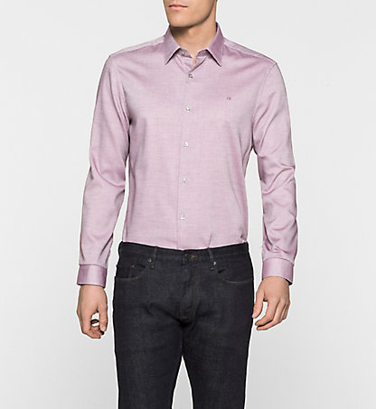 CALVIN KLEIN Fitted Dress Shirt- Walden K10K100434641