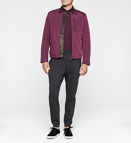 Cotton Pique Polo - PLUM - CALVIN KLEIN POLO SHIRTS - detail image 1