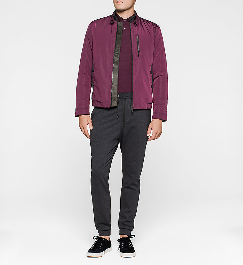 CALVINKLEIN Cotton Pique Polo - PLUM - CALVIN KLEIN POLO SHIRTS - detail image 1