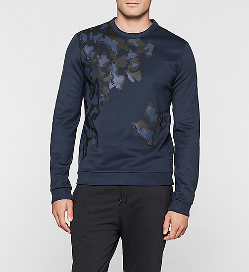 Printed Sweatshirt - MIDNIGHT NAVY - CALVIN KLEIN UNDERWEAR - main image