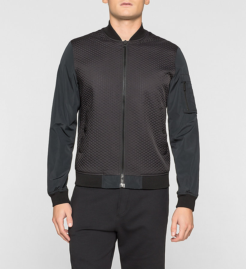 CALVINKLEIN Quilted Bomber Jacket - PERFECT BLACK - CALVIN KLEIN OUTERWEAR - main image