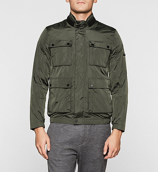 CALVINKLEIN Nylon Field Jacket - DARK OLIVE - CALVIN KLEIN CLOTHES - main image