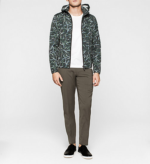 Printed Nylon Jacket - JUNGLE LEAF PRINT - CALVIN KLEIN OUTERWEAR - detail image 1
