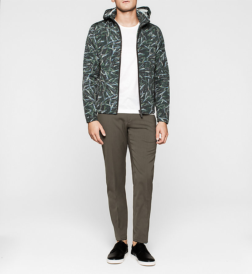 CALVINKLEIN Printed Nylon Jacket - JUNGLE LEAF PRINT - CALVIN KLEIN OUTERWEAR - detail image 1