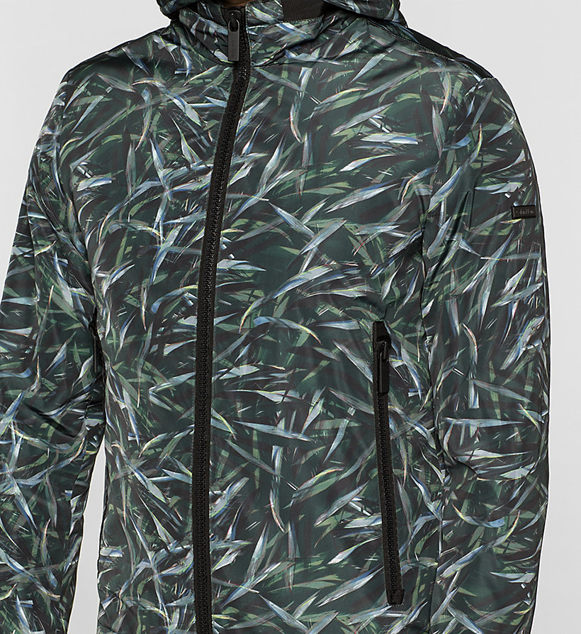 CALVINKLEIN Printed Nylon Jacket - JUNGLE LEAF PRINT - CALVIN KLEIN OUTERWEAR - detail image 2