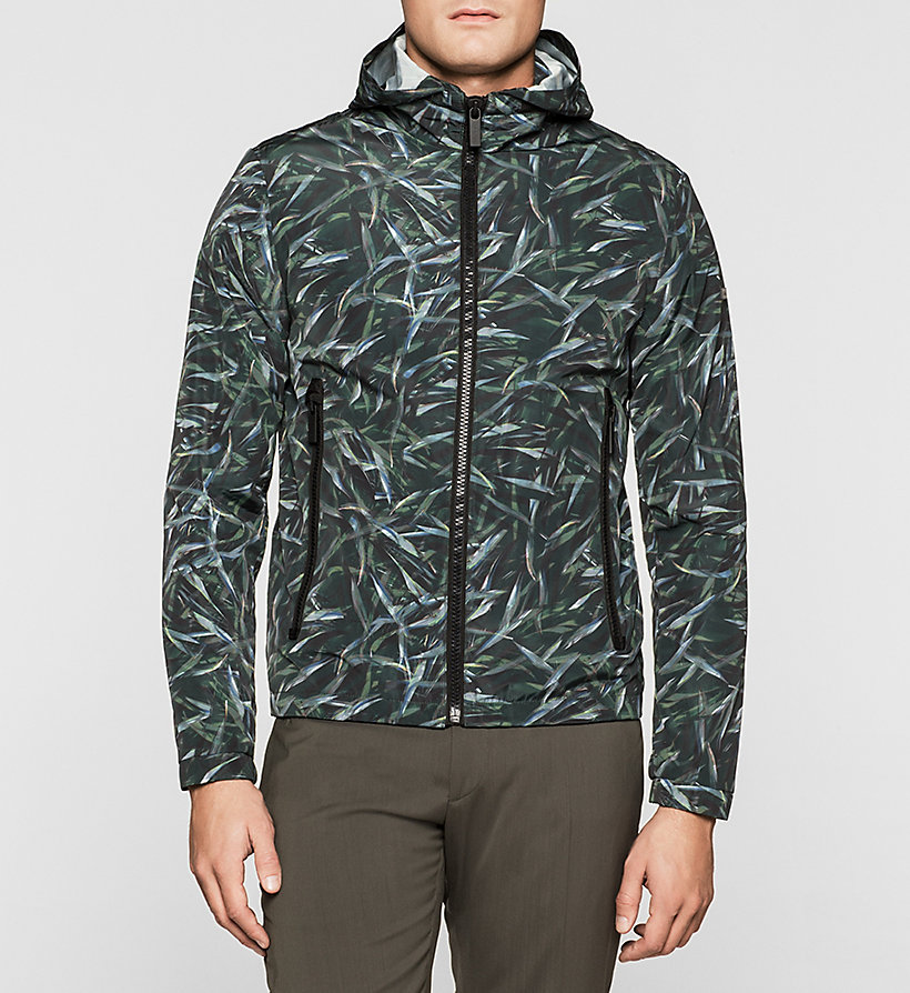 CALVINKLEIN Printed Nylon Jacket - JUNGLE LEAF PRINT - CALVIN KLEIN OUTERWEAR - main image