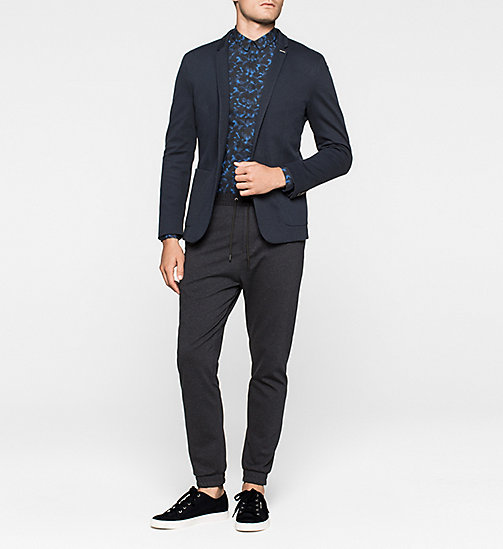 Cotton Pique Blazer - TRUE NAVY - CALVIN KLEIN  - detail image 1