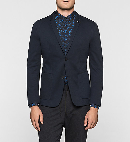 Cotton Pique Blazer - TRUE NAVY - CALVIN KLEIN BLAZERS - main image