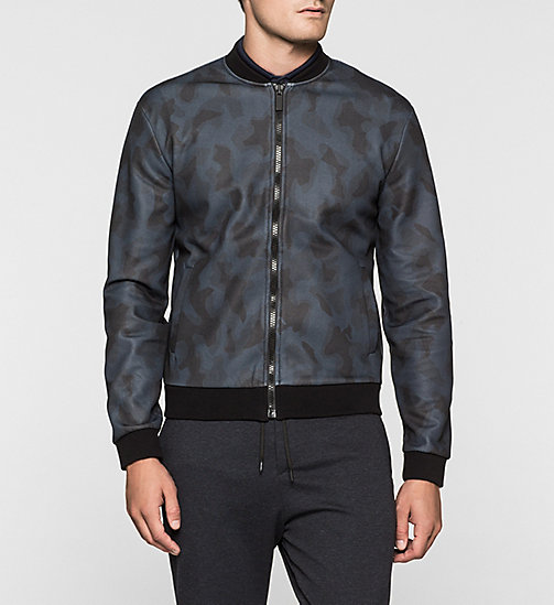 CALVINKLEIN Printed Sweat Jacket - MIDNIGHT NAVY - CALVIN KLEIN UNDERWEAR - main image