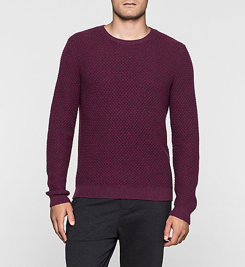 Textured Sweater - MAGENTA HEATHER - CALVIN KLEIN JUMPERS - main image