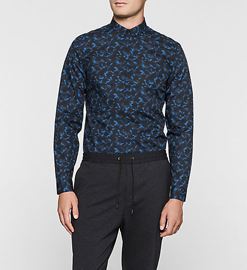 Fitted Shirt - MIDNIGHT NAVY - CALVIN KLEIN SHIRTS - main image