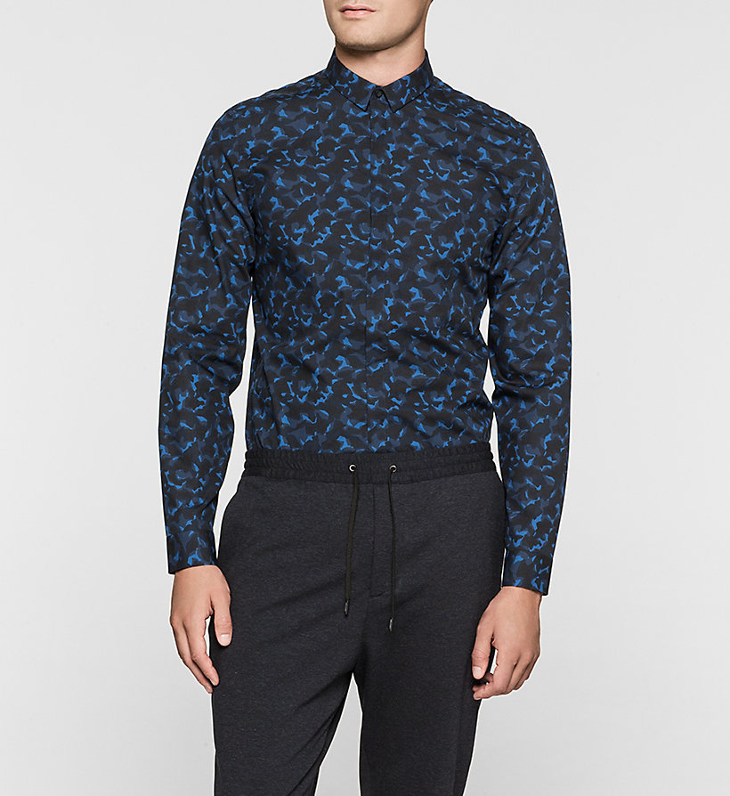 CALVINKLEIN Fitted Shirt - MIDNIGHT NAVY - CALVIN KLEIN CLOTHES - main image