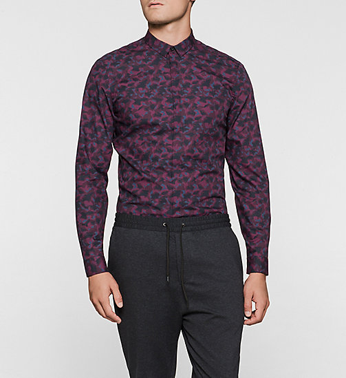 Fitted Shirt - PLUM - CALVIN KLEIN SHIRTS - main image