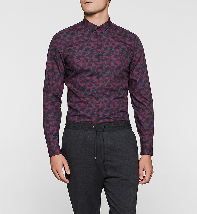 CALVINKLEIN Fitted Shirt - PLUM - CALVIN KLEIN CLOTHES - main image