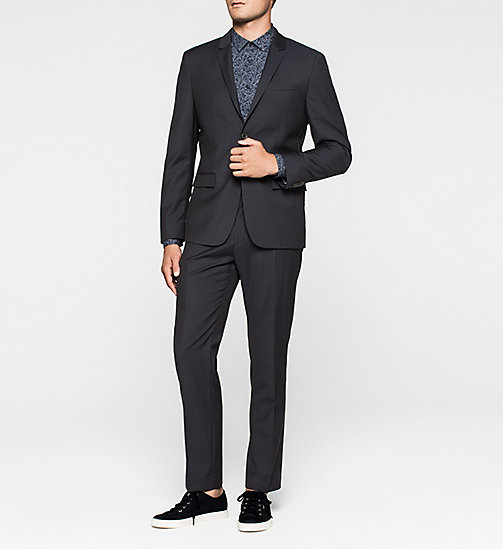 Wool Blazer - TRUE NAVY - CALVIN KLEIN SUITS - detail image 1