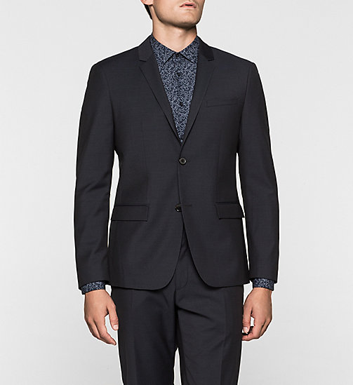 Wool Blazer - TRUE NAVY - CALVIN KLEIN  - main image