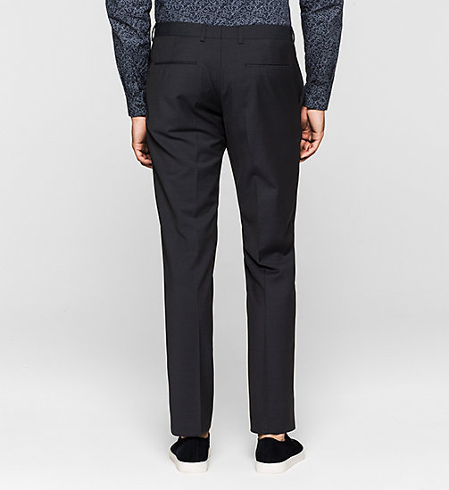 Wool Trousers - TRUE NAVY - CALVIN KLEIN  - detail image 1