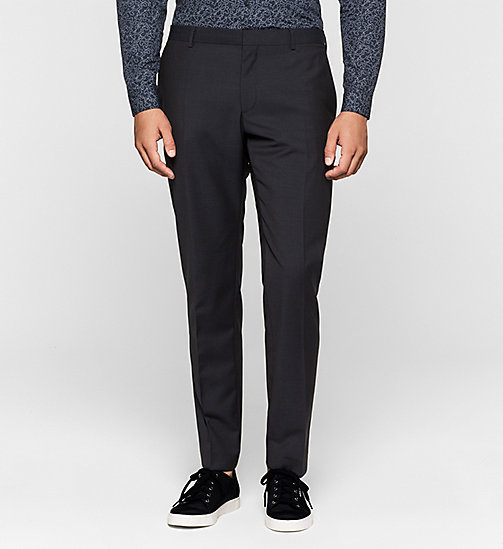 Wool Trousers - TRUE NAVY - CALVIN KLEIN  - main image