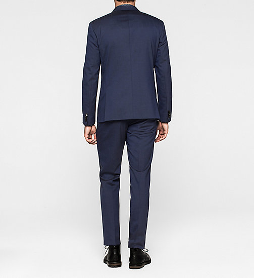 Fitted Virgin Wool Suit - DEEP INK - CALVIN KLEIN SUITS - detail image 1