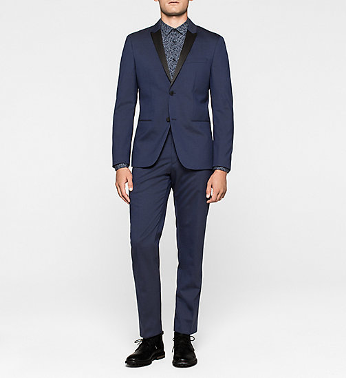 Fitted Virgin Wool Suit - DEEP INK - CALVIN KLEIN  - main image