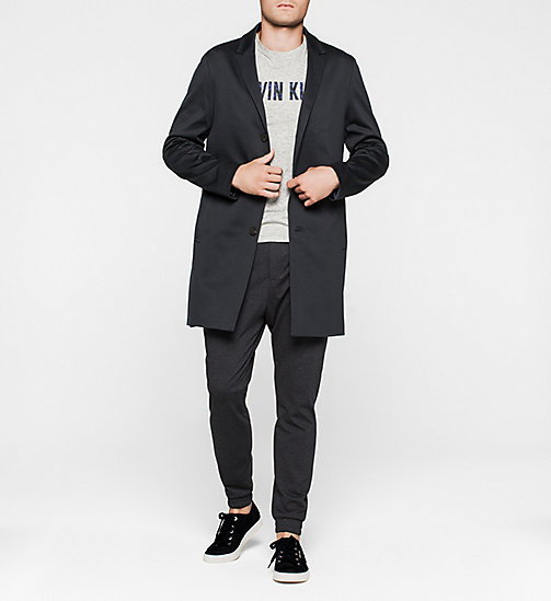 CALVINKLEIN Cotton Jersey Coat - TRUE NAVY - CALVIN KLEIN  - detail image 1