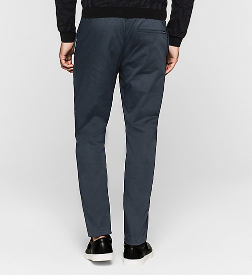 Stretch Sateen Trousers - TRUE NAVY - CALVIN KLEIN  - detail image 1