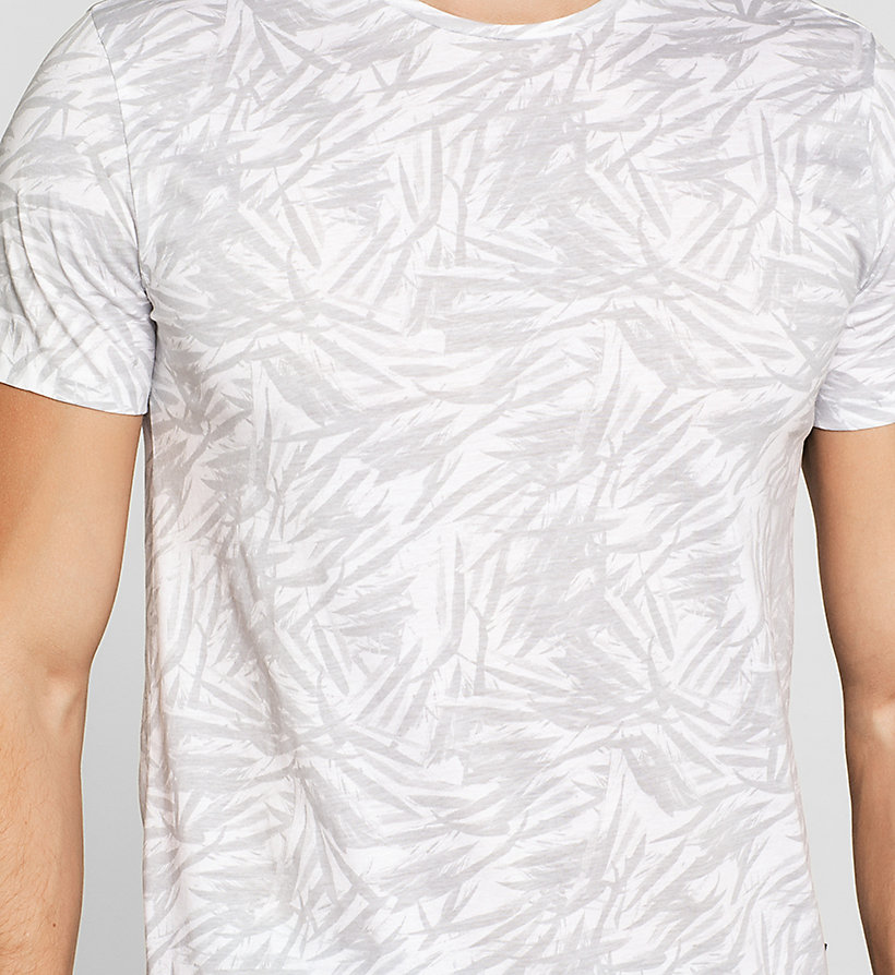 CALVINKLEIN Fitted Leaf Print T-shirt - PERFECT WHITE - CALVIN KLEIN T-SHIRTS - detail image 2