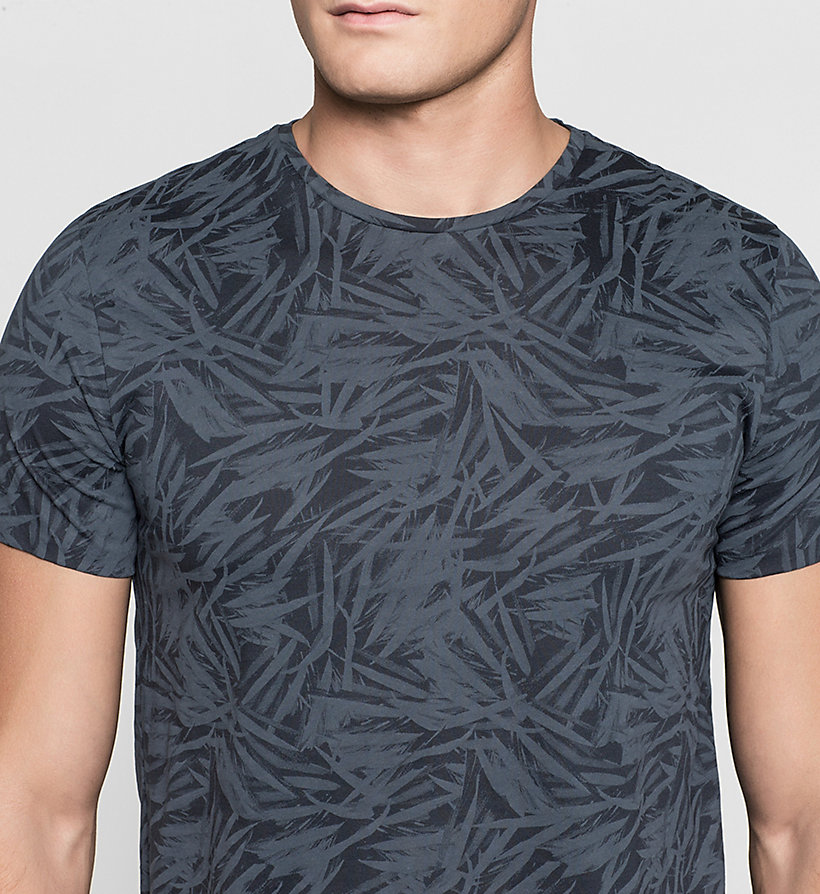 CALVINKLEIN Fitted Leaf Print T-shirt - TRUE NAVY - CALVIN KLEIN T-SHIRTS - detail image 2