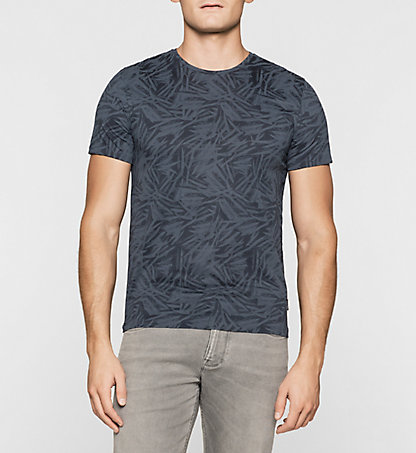 CALVIN KLEIN Fitted Leaf Print T-shirt K10K100653478