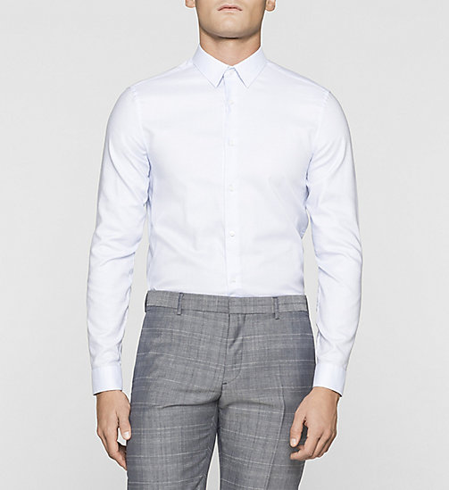 Slim Dobby Shirt - CASUAL BLUE - CALVIN KLEIN SHIRTS - main image