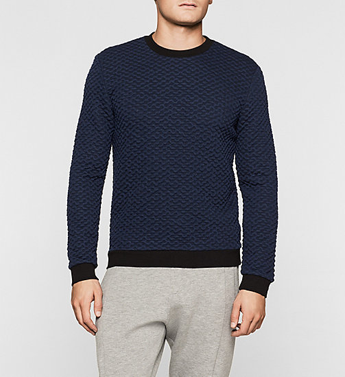 Sweat-shirt Jacquard boursoufflé - INK BLUE 19-3933 - CALVIN KLEIN SOUS-VÊTEMENTS - image principale
